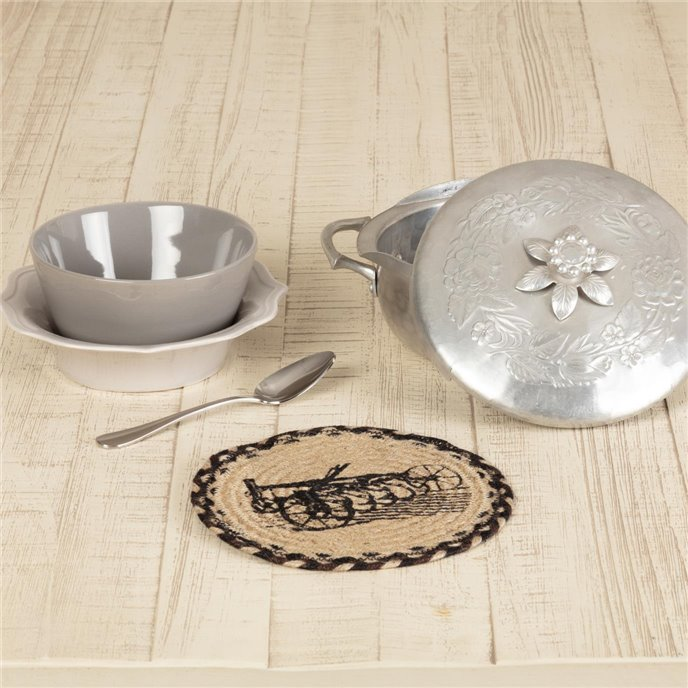 Sawyer Mill Charcoal Plow Jute Trivet 8 Thumbnail