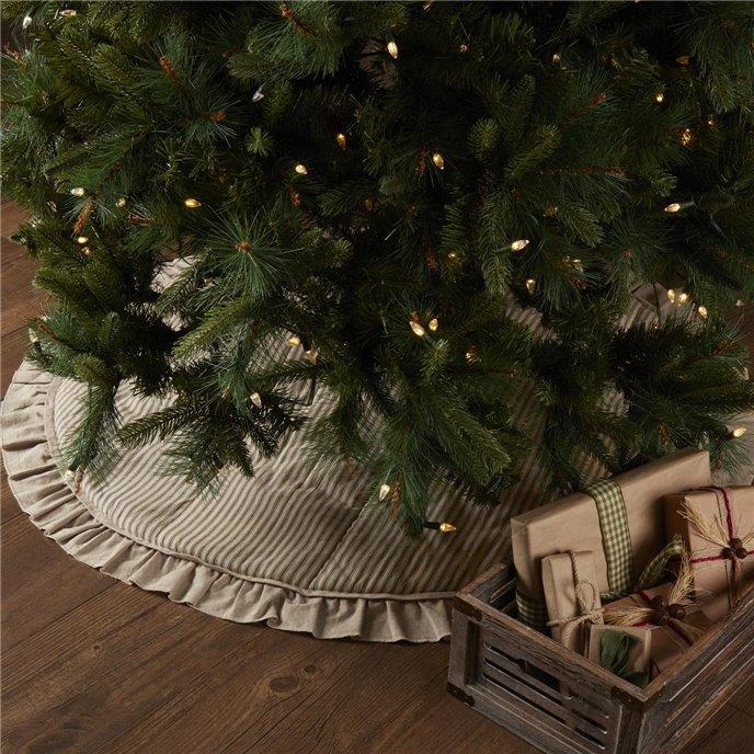 Sawyer Mill Charcoal Ticking Stripe Tree Skirt 48 Thumbnail