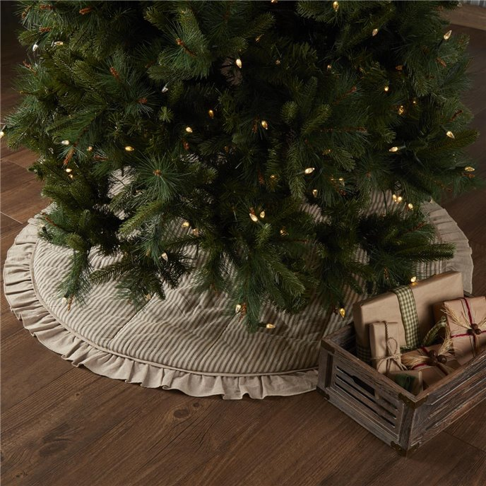 Sawyer Mill Charcoal Ticking Stripe Tree Skirt 55 Thumbnail