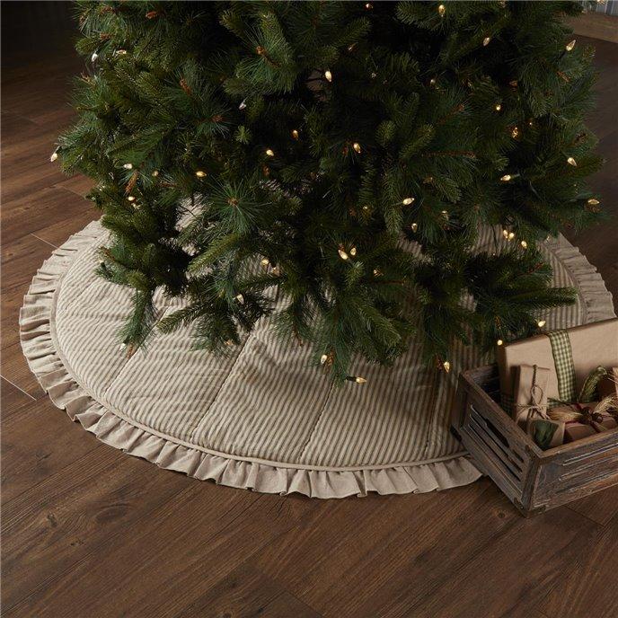 Sawyer Mill Charcoal Ticking Stripe Tree Skirt 60 Thumbnail