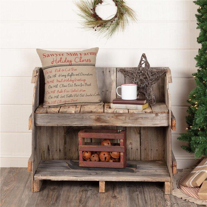 Sawyer Mill Holiday Chores Pillow 18x18 Thumbnail