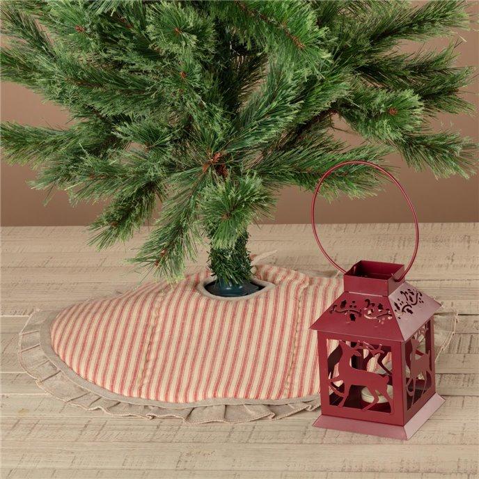 Sawyer Mill Red Ticking Stripe Mini Tree Skirt 21 Thumbnail