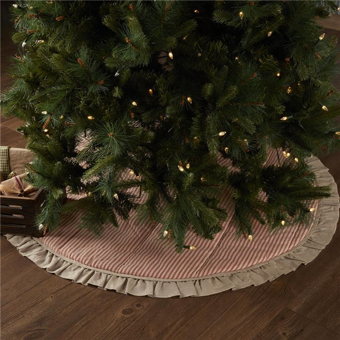 Sawyer Mill Red Ticking Stripe Tree Skirt 48 Thumbnail