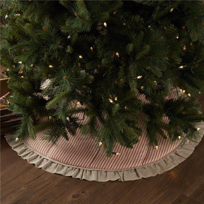 Sawyer Mill Red Ticking Stripe Tree Skirt 55 Thumbnail