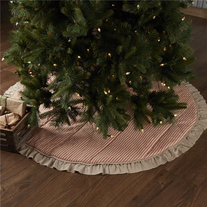 Sawyer Mill Red Ticking Stripe Tree Skirt 60 Thumbnail