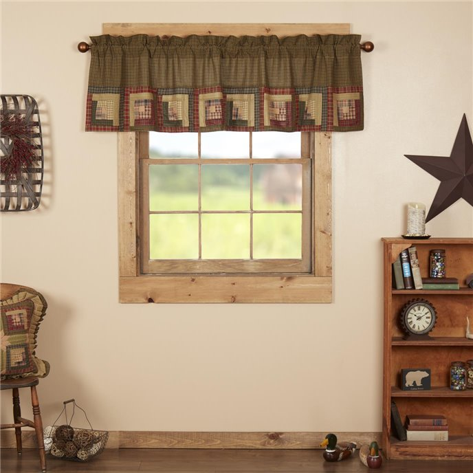 Tea Cabin Valance Log Cabin Block Border 20x72 Thumbnail