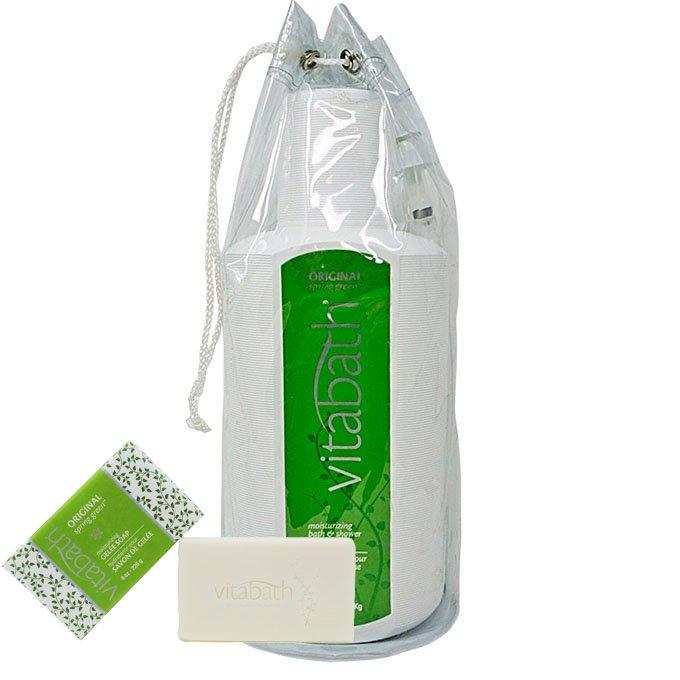 Vitabath Original Spring Green Gallon Size Bath & Shower Gelee with Bar Soap Free Ship Pack Thumbnail