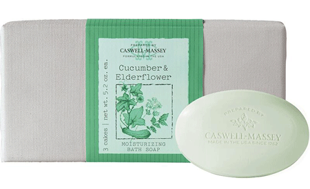 Caswell-Massey Cucumber & Elderflower Soap (3 bars x 5.2 oz) Thumbnail