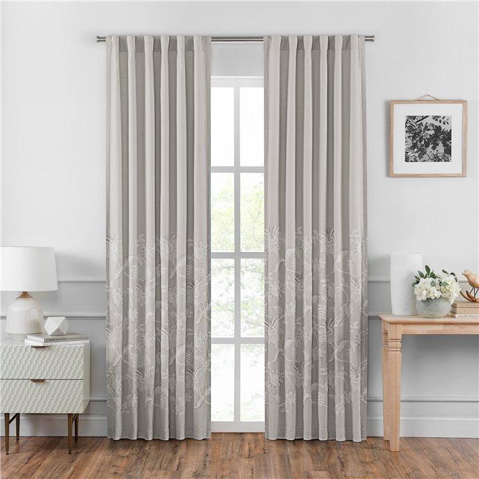 """Croscill Penelope Back Tab Curtain Panel Pair 95"""" Length Thumbnail"""