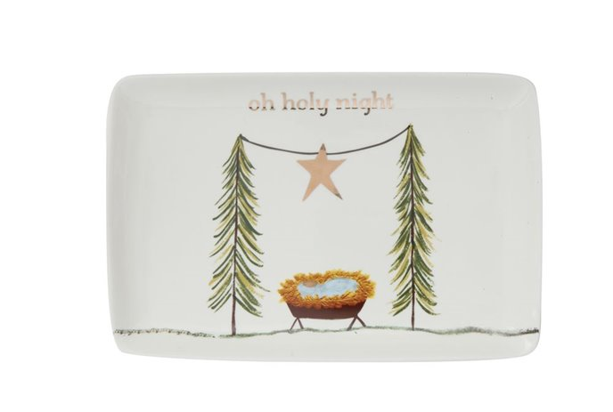 Oh Holy Night Stoneware Platter Thumbnail