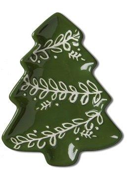 Christmas Tree Small Earthenware Dish Thumbnail