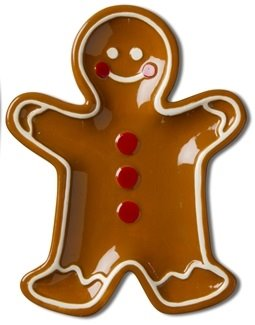 Gingerbread Man Small Earthenware Dish Thumbnail