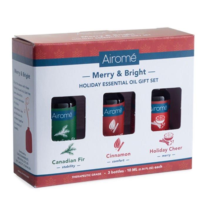 Airomé Merry & Bright Essential Oil Set (3 X 10ml) 100% Pure Thumbnail