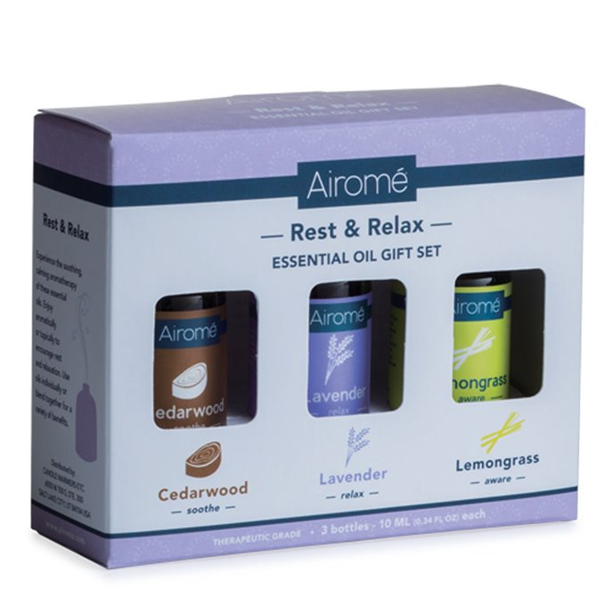 Airomé Rest & Relax Essential Oil Set (3 X 10ml) 100% Pure Thumbnail