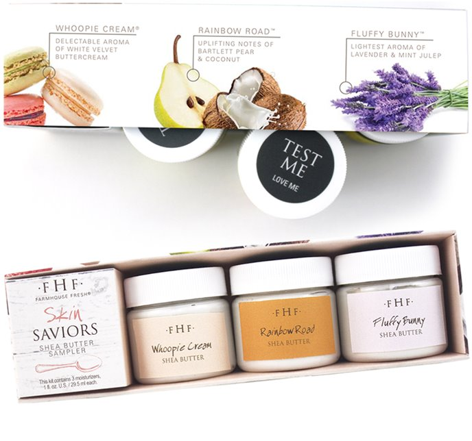 Farmhouse Fresh Skin Saviors Shea Butter Sampler (3X 1 oz jars) Thumbnail