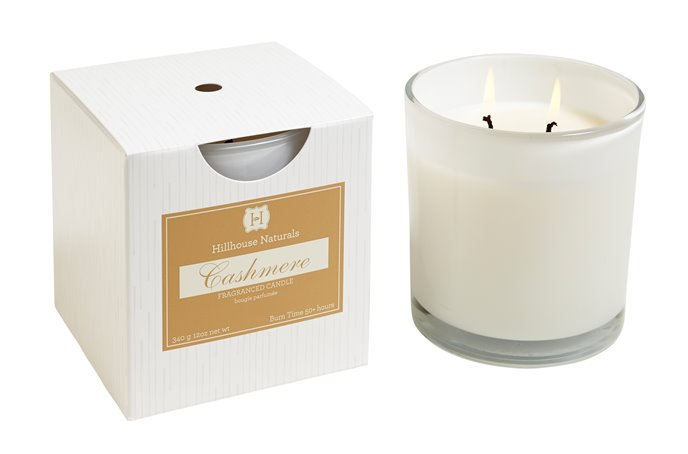 Cashmere 2 Wick Candle In White Glass 12 oz by Hillhouse Naturals Thumbnail