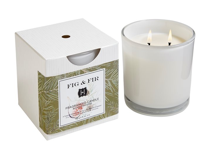 Fig & Fir 2 Wick Candle In Glass 12 oz by Hillhouse Naturals Thumbnail