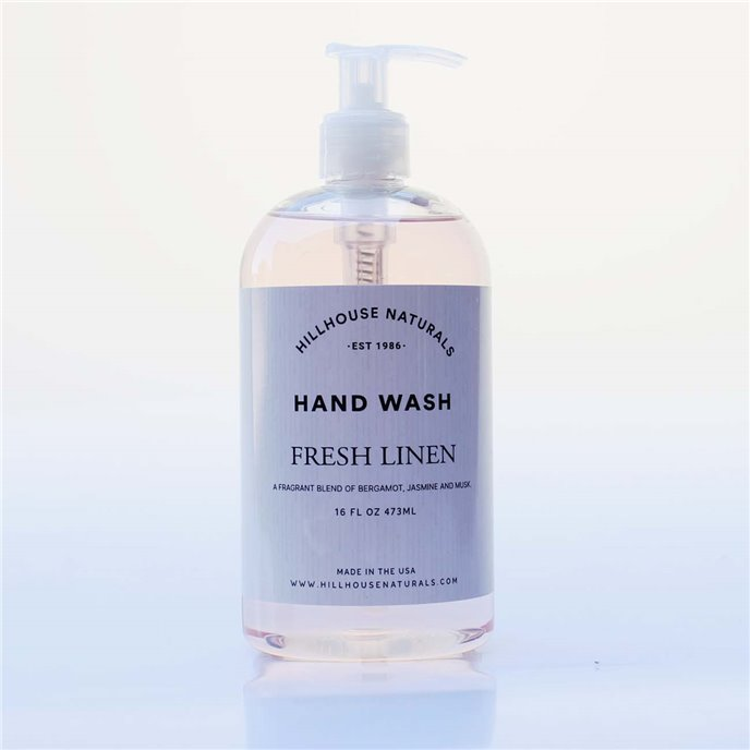 Fresh Linen Hand Wash 16 oz by Hillhouse Naturals Thumbnail