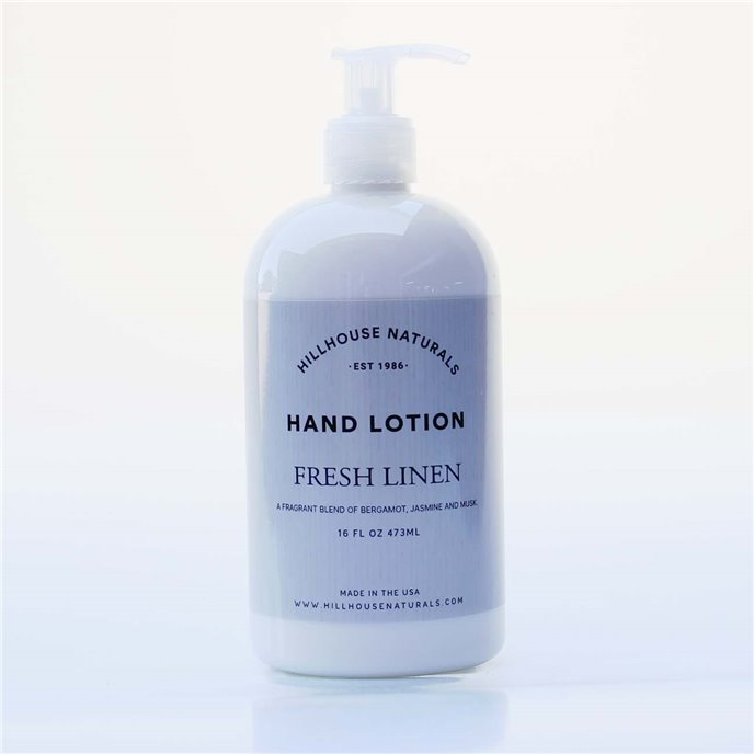 Fresh Linen Hand Lotion 8.25 oz by Hillhouse Naturals Thumbnail