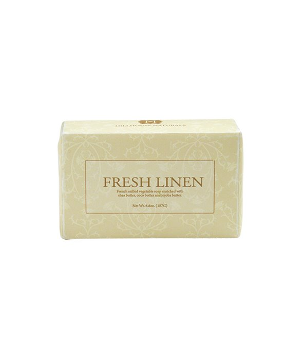 Fresh Linen French Milled Soap 6.6 oz by Hillhouse Naturals Thumbnail