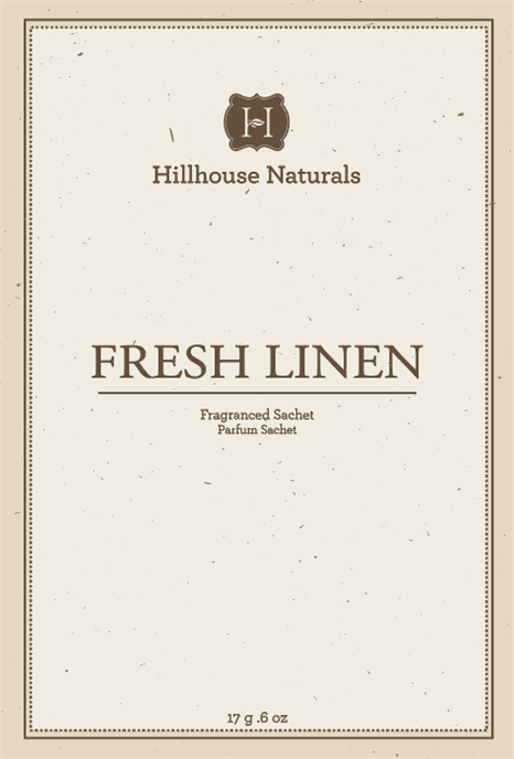 Fresh Linen Sachet .6 oz by Hillhouse Naturals Thumbnail
