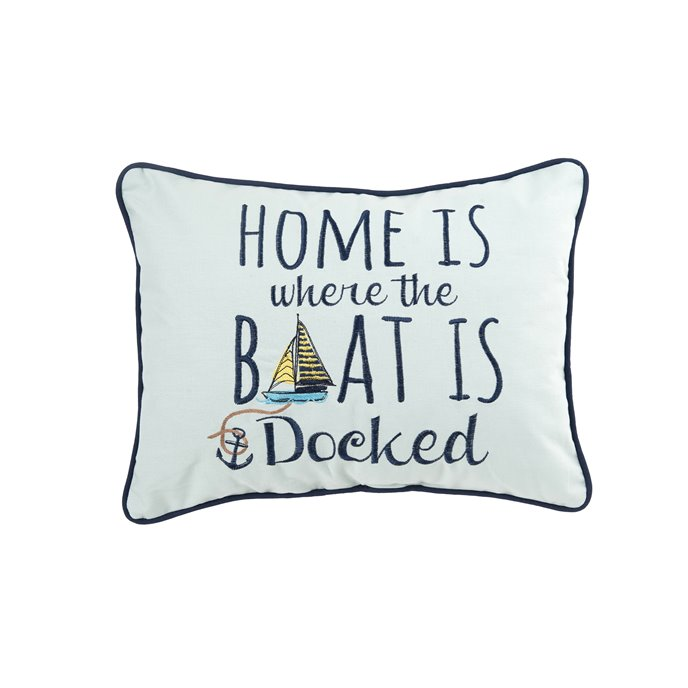 Embroidered Home Docked Pillow Thumbnail