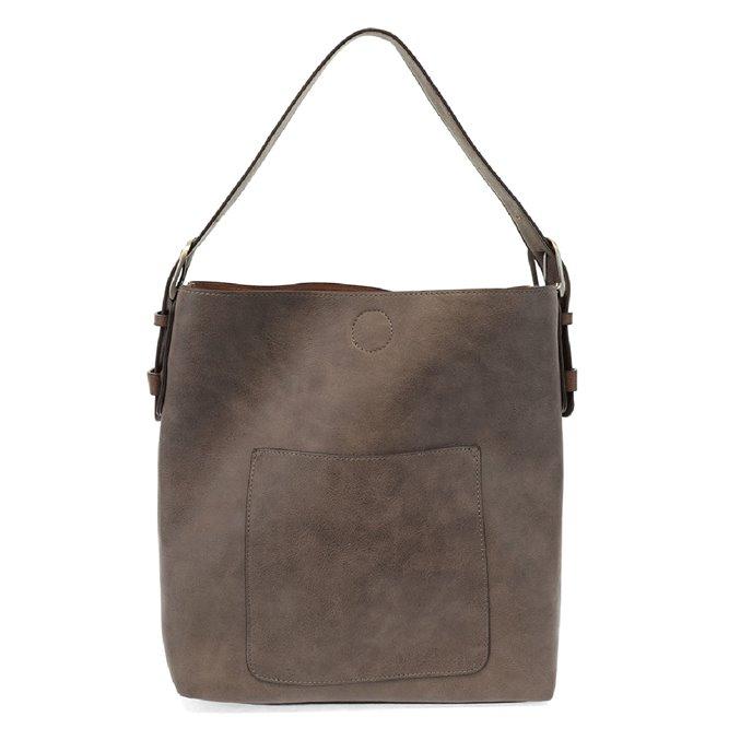 Espresso Hobo Handbag With Coffee Handle By Joy Susan Vegan Leather