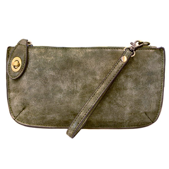 Olive Lux 3-in-1 Purse / Crossbody Wristlet Clutch Thumbnail