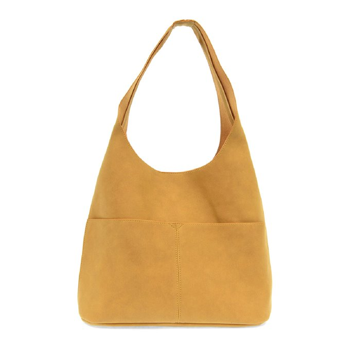 Butterscotch Jenny Sueded Hobo Handbag Thumbnail
