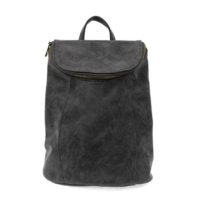 Black Alyssa Distressed Backpack Thumbnail