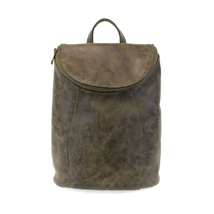 Olive Alyssa Distressed Backpack Thumbnail