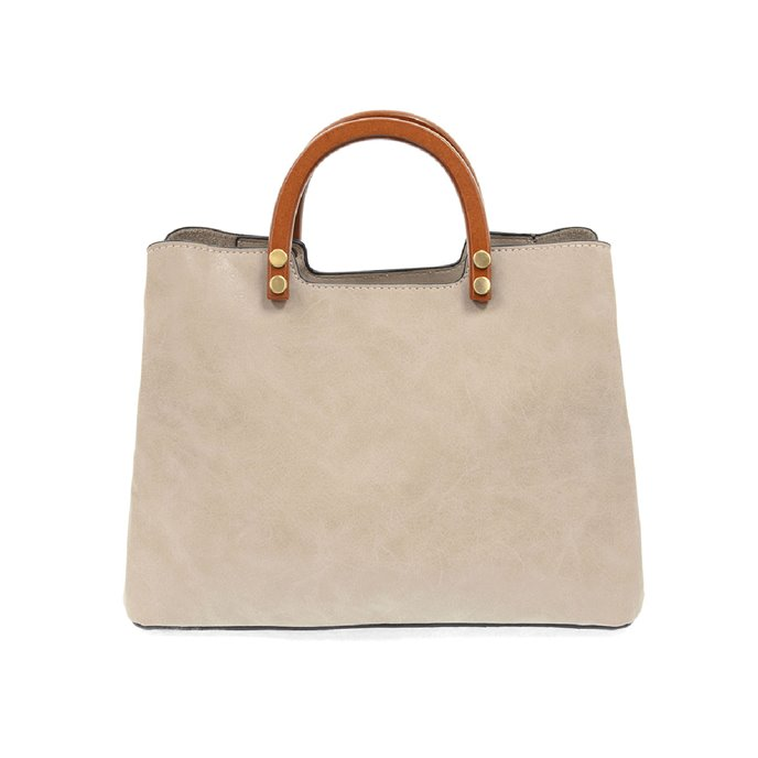 Oyster Angie Vintage Satchel with Wood Handles Thumbnail