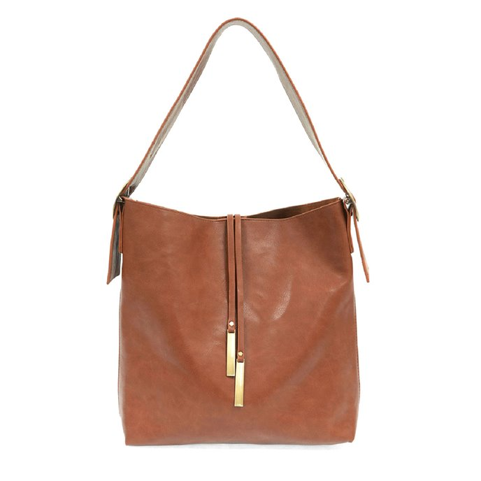 Cognac Jillian Hobo Handbag with Tassel Thumbnail