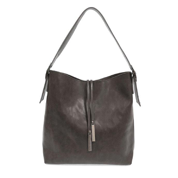 Charcoal Jillian Hobo Handbag with Tassel Thumbnail