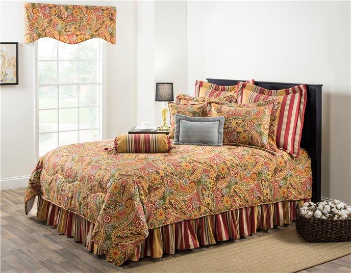 "Breeze Tapestry California King Comforter Set (15"" Bedskirt) Thumbnail"