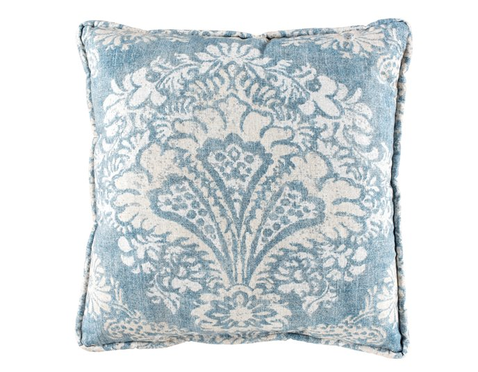 Alexandra Denim Print Square Pillow Thumbnail
