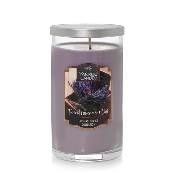 Yankee Candle Dried Lavender and Oak Medium Perfect Pillar Candle Thumbnail
