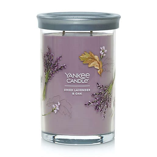 Yankee Candle Dried Lavender and Oak Large 2 Wick Cylinder Candle Thumbnail
