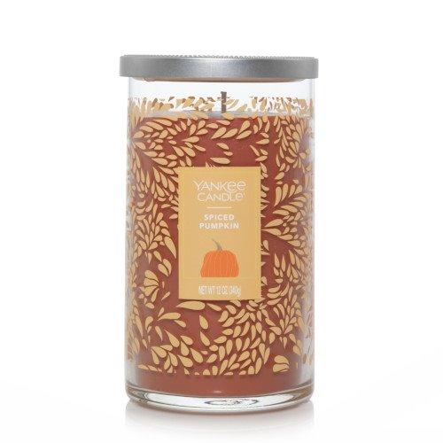 Yankee Candle Spiced Pumpkin Medium Perfect Pillar Candle (Fall Jar) Thumbnail