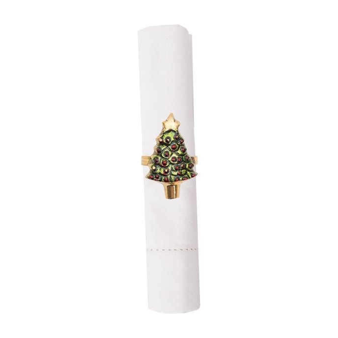 Painted Christmas Tree Napkin Ring Thumbnail