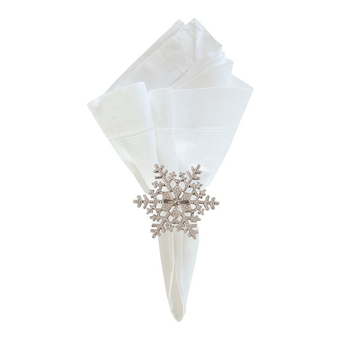 Silver Snowflake Napkin Ring Thumbnail