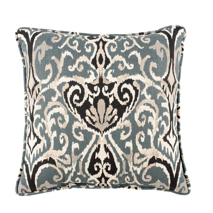 Midnight Ikat Square Pillow Thumbnail