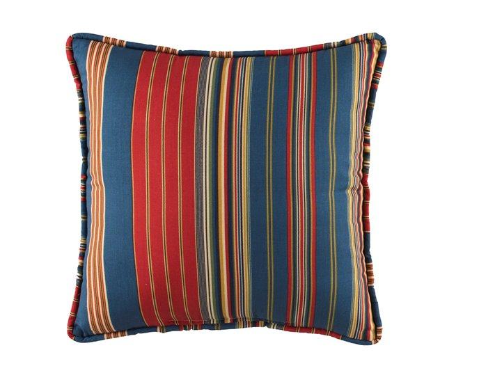 Royal Pheasant Stripe Square Pillow Thumbnail