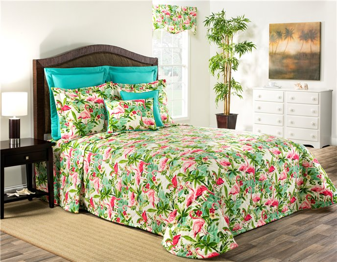Floridian Flamingo Twin Bedspread Thumbnail