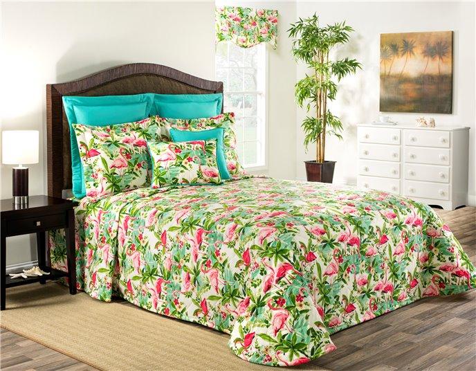 Floridian Flamingo Queen Bedspread Thumbnail