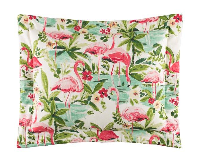 Floridian Flamingo King Sham Thumbnail