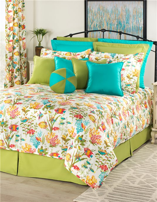 "In the Sea Queen Comforter Set (18"" Drop Bedskirt) Thumbnail"