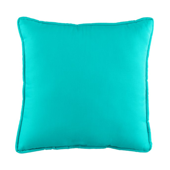 In the Sea Blue Square Pillow Thumbnail