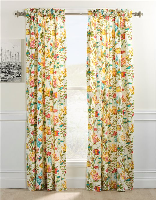 In the Sea Rod Pocket Curtain Panel Pair Thumbnail
