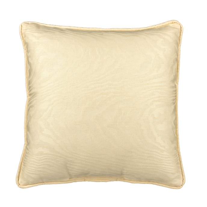 Ivory Moire Square Pillow Thumbnail
